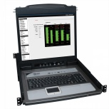 Tripp Lite Consola KVM NetDirector para Rack, 8 Puertos, 1U, incluye Pantalla 19'' + 8 Cables Combinados PS2/USB