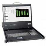 Tripp Lite Consola para Rack 1U, incluye Teclado, Pantalla 17'' y Panel Táctil - Require KVM