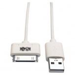 Tripp Lite Cable USB Macho - Apple 30-pin Macho, 1 Metro, Blanco
