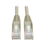 Tripp Lite Cable Patch Moldeado Snagless Cat5e UTP, RJ-45 Macho - RJ-45 Macho, 3 Metros, Gris