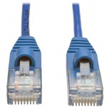 Tripp Lite Cable Patch Cat5 UTP Delgado Moldeado sin Enganches RJ-45 Macho - RJ-45 Macho, 30cm, Azul