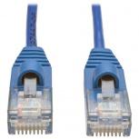 Tripp Lite Cable Patch Cat5 UTP Delgado Moldeado sin Enganches RJ-45 Macho - RJ-45 Macho, 1.52 Metros, Azul