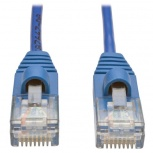 Tripp Lite Cable Patch Cat5 UTP Delgado Moldeado sin Enganches RJ-45 Macho - RJ-45 Macho, 1.83 Metros, Azul
