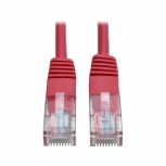Tripp Lite Cable Patch Cat5e UTP Moldeado, RJ-45 Macho - RJ-45 Macho, 350MHz, 90cm, Rojo