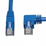 Tripp Lite Cable Patch Cat6 UTP Cat6 Moldeado en Ángulo a la Derecha RJ-45 Macho - RJ-45 Macho, 91cm, Azul