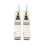 Tripp Lite Cable QSFP28 Macho - QSFP28 Macho, 30 Metros, Aqua