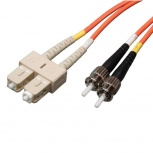 Tripp Lite Cable Fibra Óptica SC Macho - ST Macho, 5 Metros, Naranja