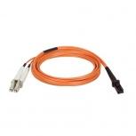 Tripp Lite Cable Fibra Óptica OFNR MT-RJ Macho - 2x LC Macho, 1 Metro, Naranja