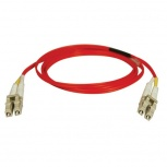 Tripp Lite Cable Fibra Óptica Multimodo OFNR 2x LC Macho - 2x LC Macho, 5 Metros, Rojo