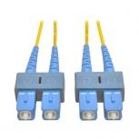 Tripp Lite Cable Fibra Óptica OFNR 2x SC Macho - 2x SC Macho, 3 Metros, Amarillo