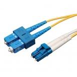 Tripp Lite Cable Fibra Óptica OFNR 2x LC Macho - 2x SC Macho, 15 Metros, Amarillo
