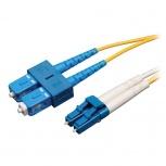 Tripp Lite Cable Fibra Óptica OFNR 2x LC Macho - 2x SC Macho, 30 Metros, Amarillo
