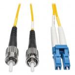 Tripp Lite Cable Fibra Óptica Duplex LC Macho - ST Macho, 10 Metros, Amarillo