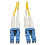 Tripp Lite Cable Fibra Óptica OFNR 2x LC Macho - 2x LC Macho, 8 Metros, Amarillo