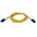 Tripp Lite Cable Fibra Óptica OFNR 2x LC Macho - 2x LC Macho, 15 Metros, Amarillo