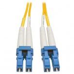 Tripp Lite Cable Fibra Óptica OFNR 2x LC Macho - 2x LC Macho, 20 Metros, Amarillo