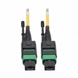 Tripp Lite Cable Fibra Óptica Multiconector Monomodo MTP/MPO Macho - 8x LC Macho, 2 Metros, Amarillo