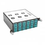 Tripp Lite Módulo de 12 Adaptadores de Fibra Óptica LC Dúplex, x3 MTP/MPO, Negro