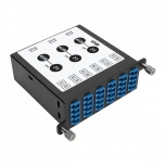 Tripp Lite Módulo de 12 Adaptadores de Fibra Óptica LC Dúplex, 3x MTP/MPO, Negro