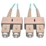 Tripp Lite Cable Fibra Óptica OM3 2x SC Macho - 2x SC, 3 Metros, Turquesa
