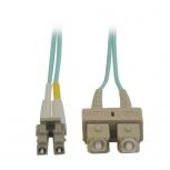 Tripp Lite Cable Fibra Óptica OM3 2x SC Macho - 2x LC Macho, 15 Metros, Turquesa