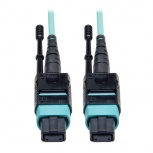 Tripp Lite Cable Fibra Óptica OM3 MTP Macho - MTP Macho, 91cm, Negro/Turquesa