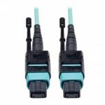 Tripp Lite Cable Fibra Óptica OM3 MTP Macho - MTP Macho, 1.83 Metros, Negro/Turquesa