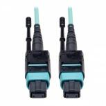 Tripp Lite Cable Fibra Óptica OM3 MTP Macho - MTP Macho, 3.05 Metros, Negro/Turquesa