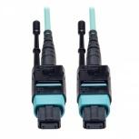 Tripp Lite Cable Fibra Óptica OM3 MTP Macho - MTP Macho, 4.88 Metros, Negro/Turquesa