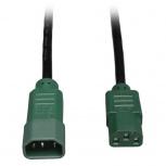 Tripp Lite Cable de Poder C14 Acoplador Macho -  C13 Acoplador Hembra, 1.2 Metros, Verde