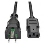 Tripp Lite Cable de Poder de Grado Hospital NEMA 5-15P Macho - C13 Acoplador Hembra, 91cm, Negro