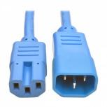Tripp Lite Cable de Poder C14 Macho - C15 Hembra, 1.8 Metros, Azul