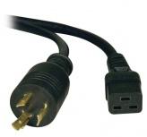Tripp Lite Cable de Poder C19 Acoplador Macho - NEMA L6-20P Hembra, 3.66 Metros, Negro