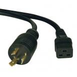 Tripp Lite Cable de Poder para PDU/UPS C19 Coupler Macho - NEMA L6-20P Hembra, 4.3 Metros, Negro