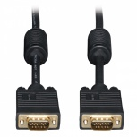 Tripp Lite Cable VGA Coaxial para Monitor, HD15 Macho - Macho, 3.05 Metros, Negro