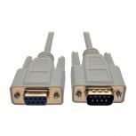 Tripp Lite Cable DB9 Macho - DB9 Hmebra, 1.83 Metros, Gris