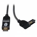 Tripp Lite Cable HDMI de Alta Velocidad con Conectores Giratorios, Macho - Macho, 3.05 Metros, Negro