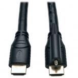 Tripp-Lite Cable HDMI de Alta Velocidad con Ethernet y Conector de Bloqueo, 4.57 Metros, Negro