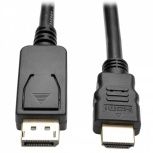 Tripp Lite Cable DisplayPort Macho - HDMI Macho, 1.8 Metros, Negro
