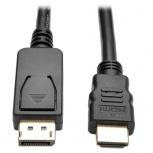 Tripp Lite Cable DisplayPort con Broches Macho - HDMI Macho, 1.8 Metros, Negro