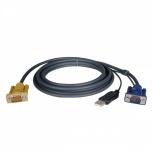 Tripp Lite Cable Switch KVM P776-010, VGA (D-Sub) - HD15 M, USB A, 3 Metros
