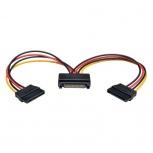 Tripp Lite Cable de Poder SATA de 15 Pines Macho - 2x SATA de 15 Pines Hembra, 15cm, Negro/Rojo