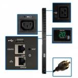 Tripp Lite PDU para Rack ZeroU PDUMV20HVNET2LX, 20A, 208-230V, 8 Contactos