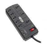 Tripp Lite Supresor de Picos TLP88USBB, 8 Contactos, 2x USB, 1200 Joules