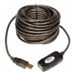 Tripp Lite Cable Extensión Activa USB 2.0 A Macho - USB 2.0 A Hembra, 4.8 Metros, Negro