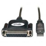 Tripp Lite Cable USB A Macho - DB25 Hembra, 1.83 Metros, Negro