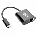 Tripp Lite Adaptador de Red Gigabit  USB C - USB 3.1 Gen1, 5 Gbps, Compatible con Thunderbolt 3