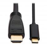 Tripp Lite Cable USB C Macho - HDMI Macho, 3.05 Metros, Negro