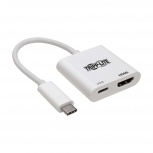 Tripp Lite Adaptador USB C Macho - USB C/HDMI Hembra, Blanco