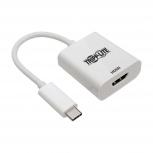 Tripp Lite Adaptador USB C 3.1 Macho - HDMI A Hembra, Blanco